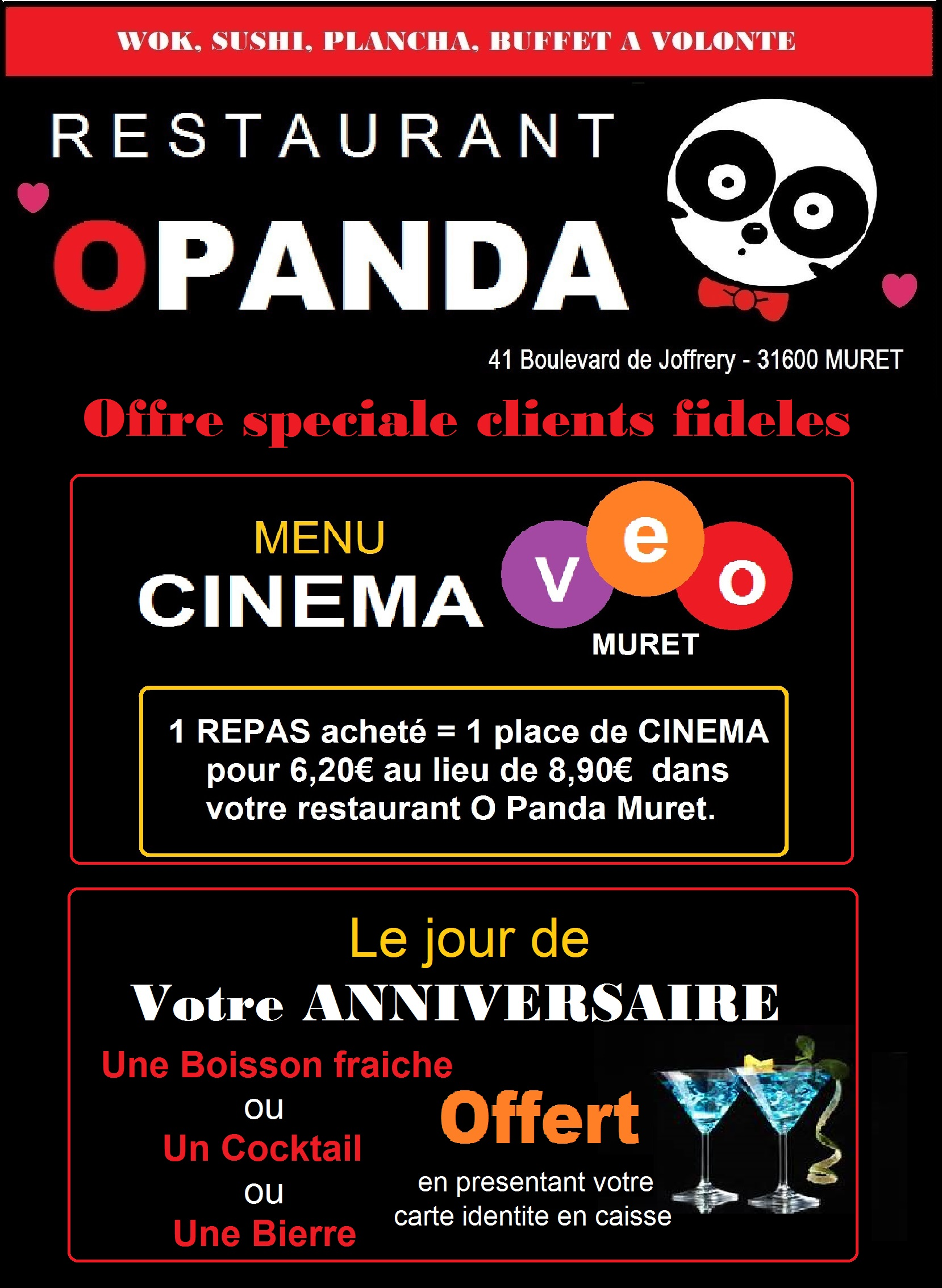 panda bienvenue dans nos restaurants. Black Bedroom Furniture Sets. Home Design Ideas